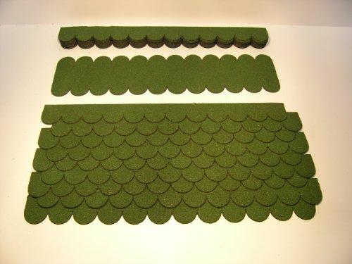 Mini Dachschindeln Grün für Vogelhaus 23.403 Dachschindel