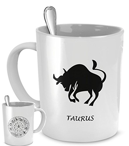 Zodiac Astrology coffee mug - Horoscope TAURUS star sign - astrological symbol Constellation birthday gift cup