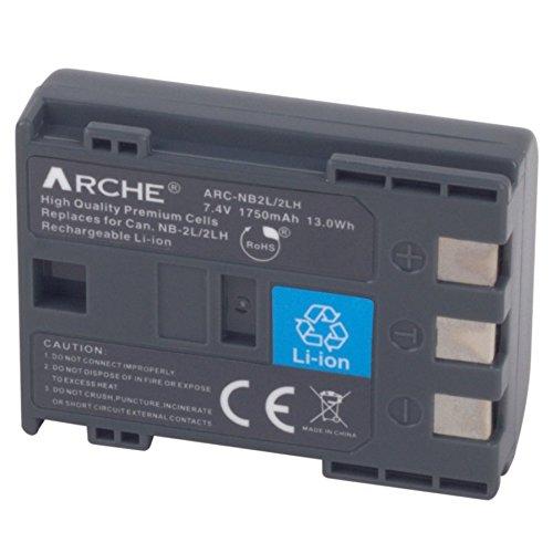 ARCHE NB-2L NB2L NB-2LH NB-2L14 <1 Pack> Replacement Battery for [Canon EOS 350D, 400D, Digital Rebel XT/XTi, Canon DC301 DC310 DC320 DC330 DC410 DC420, Canon FV500 FVM20 FVM30 FVM100 FVM200] (Nb 2l14 Replacement)
