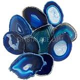 Agate Slice Blue - Medium