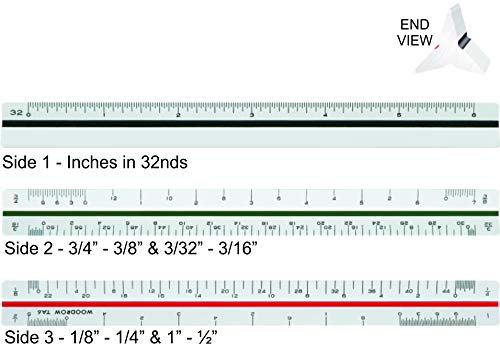 Woodrow 6 Inch Architectural Triangular Scale Ruler by Woodrow (Image #2)