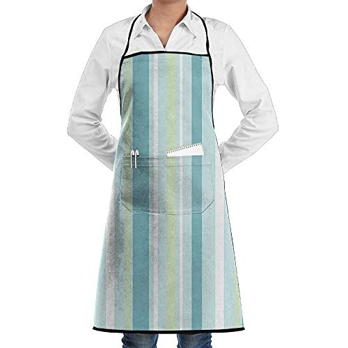 SOADV Retro Stripes Cooking Kitchen Aprons for Women Men Chef,Grill and Baking,Adjustable with Pocket (Sims Jeans 2)