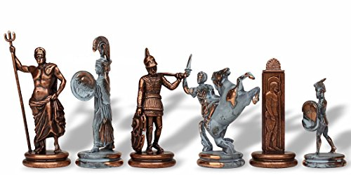 Large Poseidon Chess Set in Copper - 4.5
