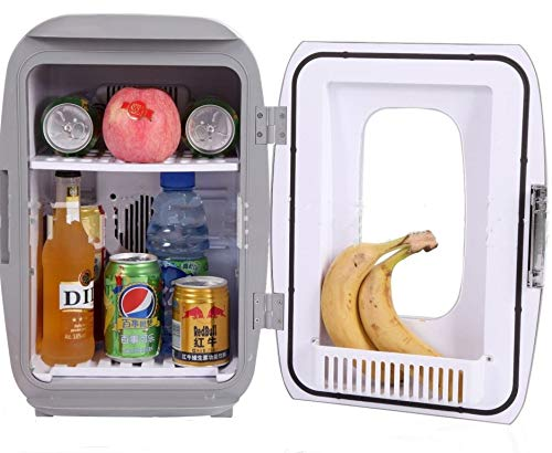 LIMITED SPECIAL OFFER 16L/17Can Grey Mini Refrigerator Ship from US (Portable Fridge Bedroom Mini Fridge For Bedroom Electric Cooler for Car Refrigerator For Car Office Refrigerator For Office)