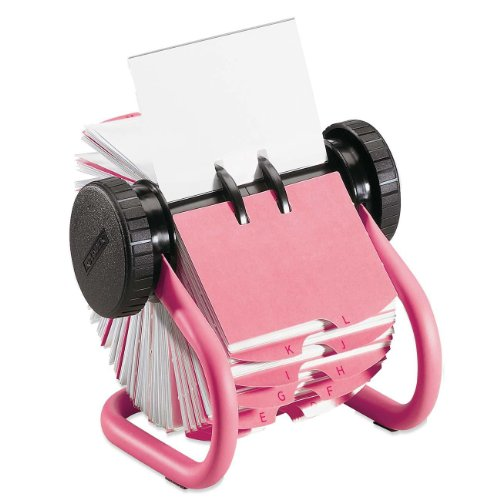 Sanford Rolodex Pink Metal Rotary Business Card File, 400...
