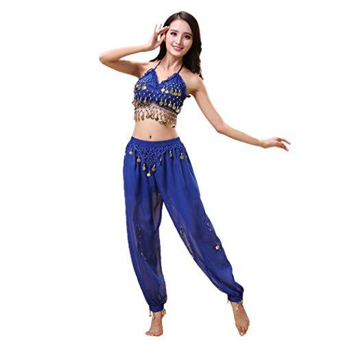 Maylong Lantern Pants Halloween Costume Belly Dance Carnival Outfit DW24 (Royal Blue) -