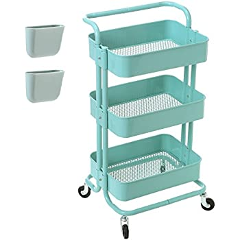 rolling storage carts zytty 3 tier rolling cart metal utility cart 25642