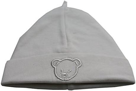 King Bear - Gorro de algodón para bebé, color blanco: Amazon.es: Bebé