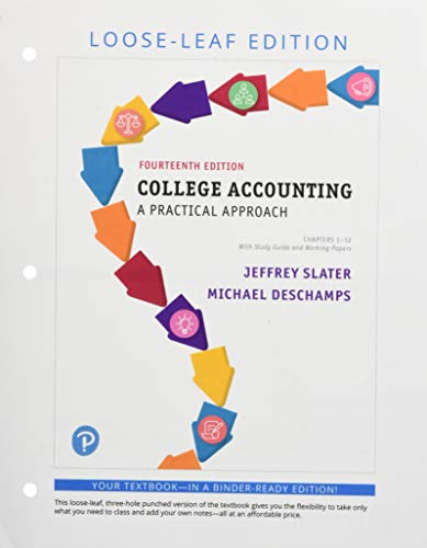 College Accounting Chapters 1-12 with Study Guide and Working Papers, Student Value Edition (14th Edition)