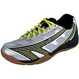Hi-Tec Infinity Flare Mens Indoor Court Shoe Silver/Black/Yellow