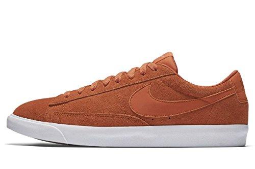 Nike Blazer Low Camoscio Mens Aj9516-800 Fuoco Arancione / Fuoco Arancio-sail