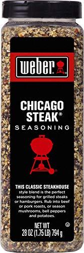 Weber Seasonings Pack of 6 (Chicago Steak 28 oz)