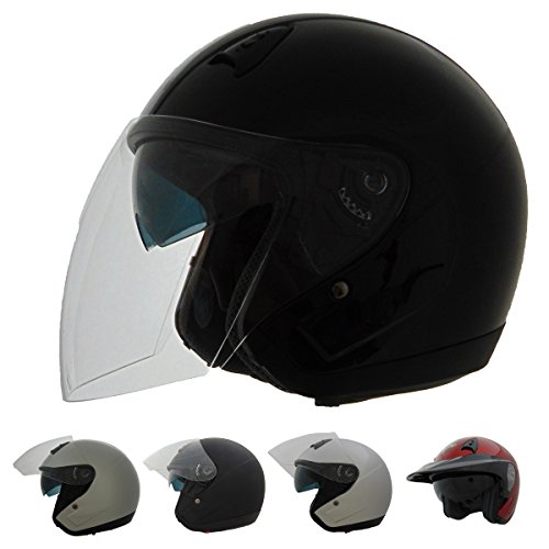 Vega Helmets Unisex-Adult Style VTS1 3/4 Open Face Helmet Matte Black Large (Vega Helmets Motorcycle)
