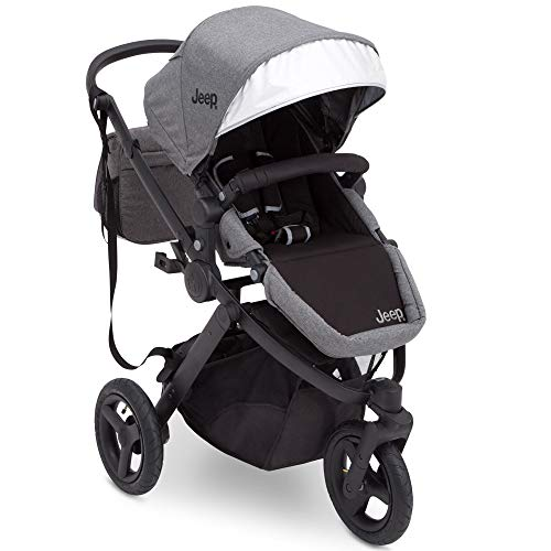 (Jogging Stroller | All Terrain Baby Jogger | Sport Utility | JPMA Safety Certified | J is for Jeep Brand | Grey on Black Frame)