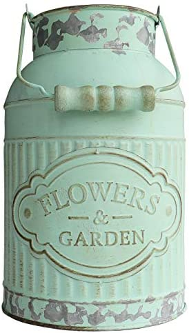 HyFanStr Shabby Painted Flower Pitcher product image