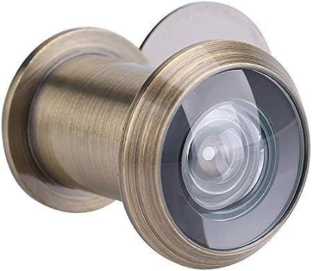 Brushed Silver Visionneuse de Porte Judas pour Porte Dentr/ée S/écurit/é Grand Angle de 220 Degr/és avec Cache de Protection de Haute R/ésistance