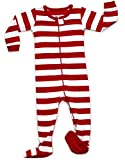 Leveret Red & White Footed Pajama 4 Years