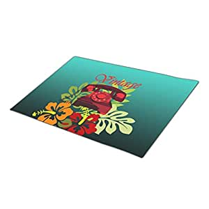 BaLaBala Telephone Hibiscus Holiday Doormats