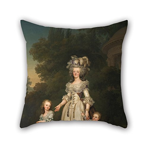 Price comparison product image Slimmingpiggy Pillow Covers 20 X 20 Inches / 50 By 50 Cm(2 Sides) Nice Choice For Study Room, her, dance Room, lover, kitchen, chair Oil Painting Adolf Ulrik Wertmüller - Queen Marie Antoinette Of Franc