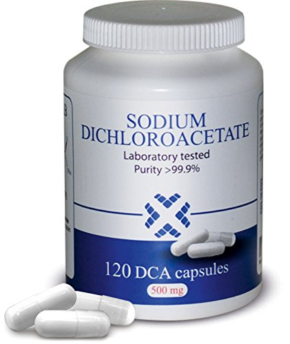 DCA - Sodium Dichloroacetate 500mg - Purity >99.9%, Made in Europe, by DCA-LAB, Certificate of Analysis Included, Tested in a Certified Laboratory, Buy Directly from Manufacturer, 120 Capsules
