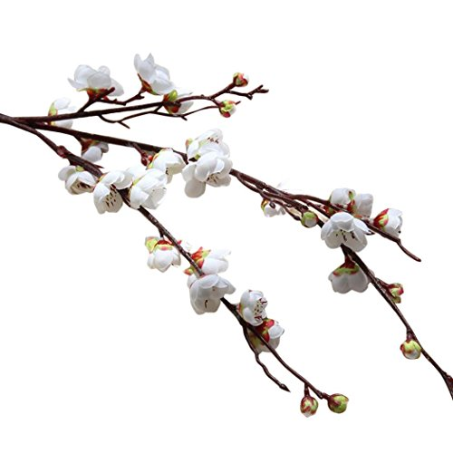 - Paymenow Artificial Flowers Clearance, Fake Flowers Plum Blossom Floral Bouquet Home Garden Office Dining Table Wedding Decor (White)