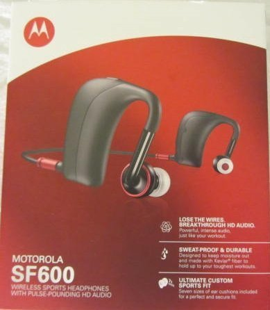 Motorola SF600 Wireless Sports Headphones - Black (Bulk Packaged)