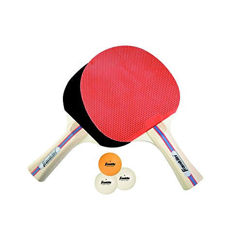 Franklin Sports 2 Player Paddle Set Red Black