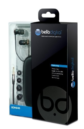 Bell'O Digital BDH641BCCP In-Ear Headphones with Precision Bass, Copper by Bell'O Digital