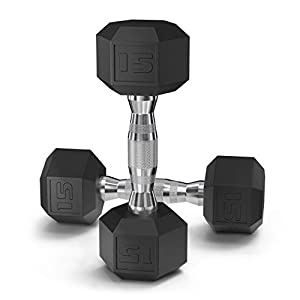 Well-Being-Matters 418qXx6X2rL._SS300_ Epic Fitness Coated Hex Dumbbell Weights