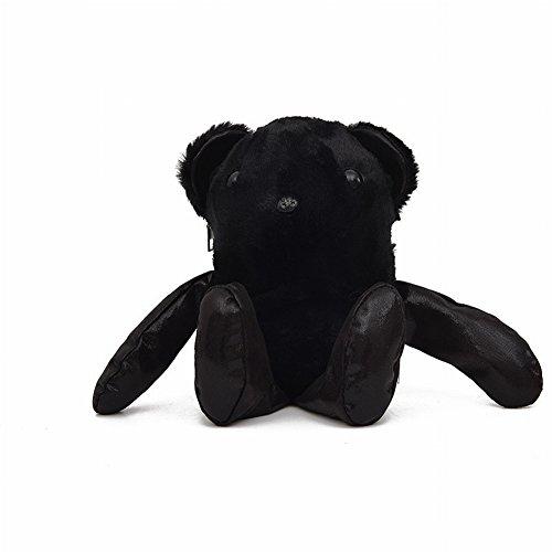 Plüsch Bär Schultertasche Weibliche Mode Niedlichen Cartoon Tasche Rucksack , schwarz