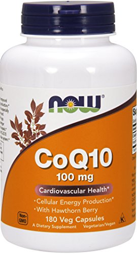 NOW CoQ10 100 mg with Hawthorn Berry,180 Veg Capsules