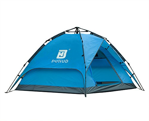 Oxking Wholesale Outdoor Sports Tent 3-4 Person Ultralight Automatic Open Large Double Tent POP UP Canopy Pergola Camping Hiking Tent Equipment Windproof Waterproof Color Blue (Blue)