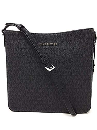 Michael Kors Jet Set NS Travel Messenger Bag Black/Black