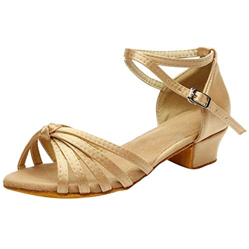 Todaies Women Ballroom Tango Salsa Dance Shoes Latin Low-Heels Dance Shoes