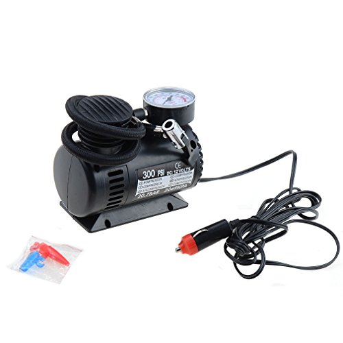 pannow 12V Portable Air Compressor Pump, Mini Digital Tire Inflator, 300PSI Tire Pump for Car Truck Bicycle Air Mattresses Balls Swimming Rings and Other Inflatables by pannow