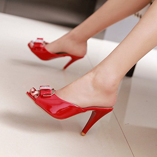 Mode Donne Scivolare su Mules 3 red Heels Melady Sandali wpC5qn1qg
