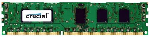 Crucial Technology CT12872BB1339S 1 GB 240-pin DIMM DDR3 PC3-10600 CL=9 Registered ECC Single Ranked DDR3-1333 1.5V 128Meg x 72 Memory ()