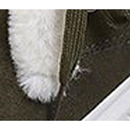 Confort botas Nubuck Toe de para Invierno plano negro de mujer de Casual Otoño Ronda PU Army ejército Verde Green Cuero Zapatos tacón A8dnzx6wz