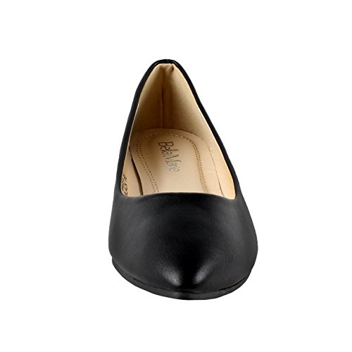 PU On Bella Pointy marie Black Flats Toe Slip Angie Ballet Classic 52 Women's Xa8Xwvr