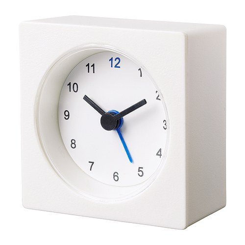 Ikea Clock Decorative Alarm Battery Operated 3'