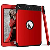 DECVO 3 in 1 Heavy Duty Shockproof Rugged Cover Compatible New iPad Pro 2018 - High Impact Resistant Hybrid Hard PC Protection Soft Silicone Full Body Protective iPad Pro 2018 9.7