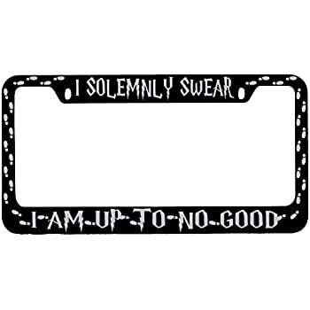 Harry Potter I Solemnly Swear That I Am Up To No Good Glossy Black Plate Frame