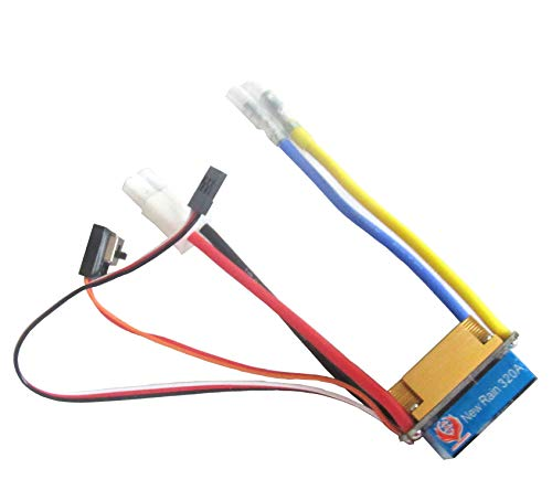 powerday 480A Three Mode Brushed Speed Controller ESC Regler for 1/10 RC Car Boat Tamiya Plug