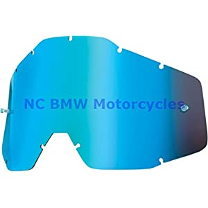 100% Racecraft Adult Replacement Lens MotoX Motorcycle Eyewear Accessories - Blue Mirror/Smoke Anti-Fog - One Size