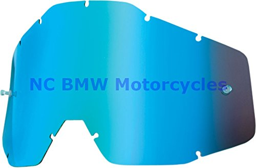100% Racecraft Adult Replacement Lens MotoX Motorcycle Eyewear Accessories - Blue Mirror/Smoke Anti-Fog - One Size by 100%