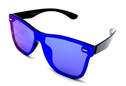 Plana Gafas Sunglasses de Wayfarer W7038 Lagofree Lente Sol Azul Espejo nTqCU