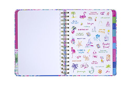 Lilly Pulitzer 17 Month Large Agenda, Personal Planner, 2018-2019 (Mermaid Cove) by Lilly Pulitzer (Image #5)'