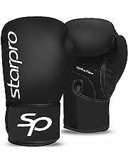 Starpro Junior Performer rękawice bokserskie z jedną powłoką | skóra syntetyczna | czarny | do treningu młodzieży i sparingu w muay tajskim kickboxingu fitness i bokserstwa | dzieci 150 ml 200 ml