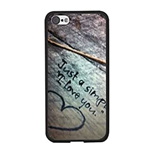 Hipster Cute Quotes Love Heart Designer Vogue Hard Plastic Back Phone Cover Case for Iphone 5c Best Gift for Girls (Wood Grain)
