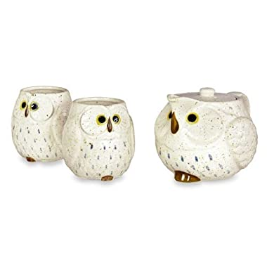 Owl Ceramic Tea Set (Snow)